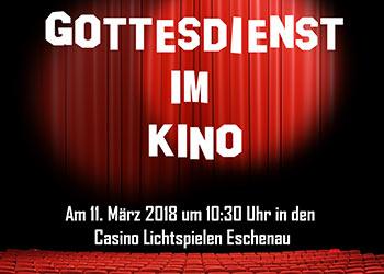 Gottesdienst im Kino am 11. März