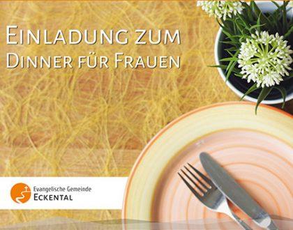 Herzliche Einladung zum Dinner für Frauenam 20. Februar